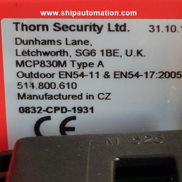 Thorn security CP830M   Manual Call Point